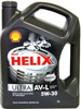 Отзывы о моторном масле Shell Helix Ultra AV-L 5W-30 5л